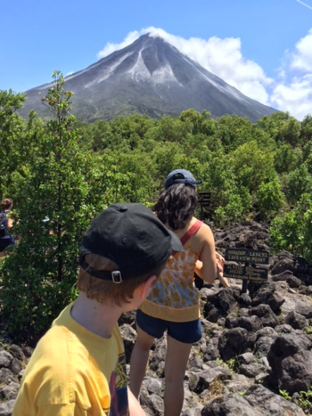 On the fertile lava field that leads up to the Arenal Volcano.