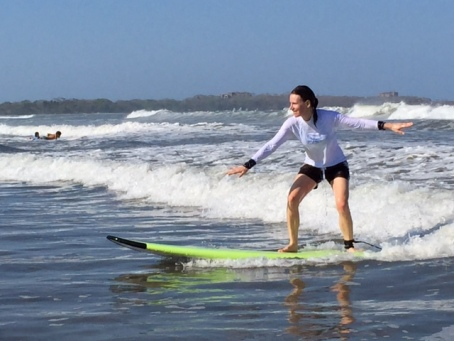 Woohoo! I surfed!