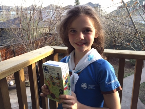 Wouldn't you buy a box of cookies from this Girl Guide?