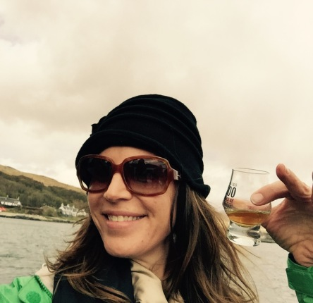 And I sipped whisky on the boat ride to neighbouring island Jura...