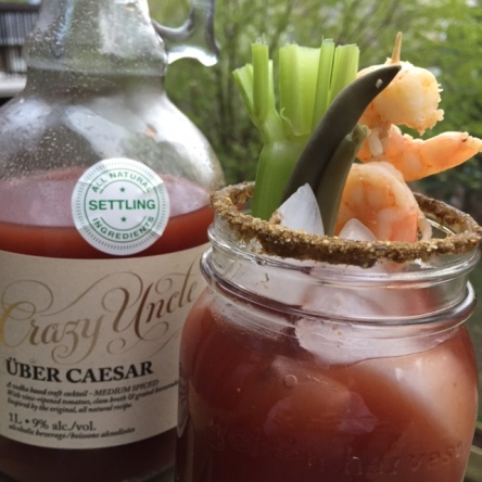 """Crazy Uncle now makes a ready-to-drink """"Uber Caesar"""" that's actually really good."""