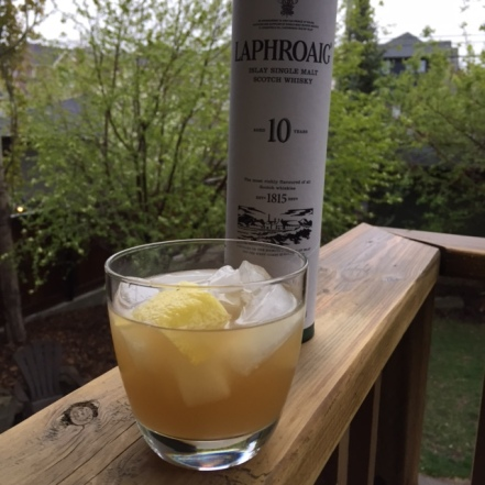 Penicillin cocktail. Laphroaig is good medicine!