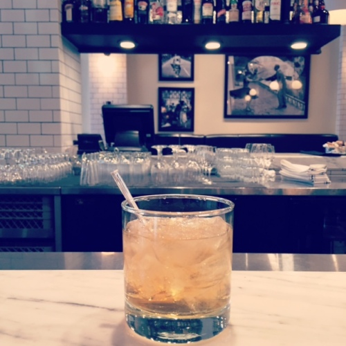 Parc Cafe and Brasserie makes an Old Fashioned using French ingredients.