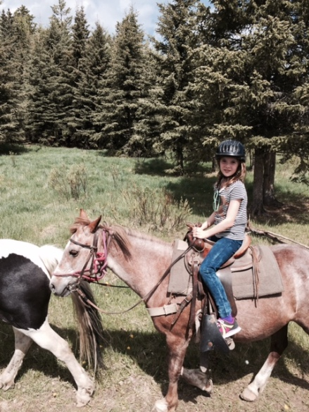 Avery astride Princess at Griffin Valley Ranch.