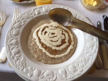 Served in a giant bowl with a giant spoon, my porridge is actually anti-wee. Also, delicious.