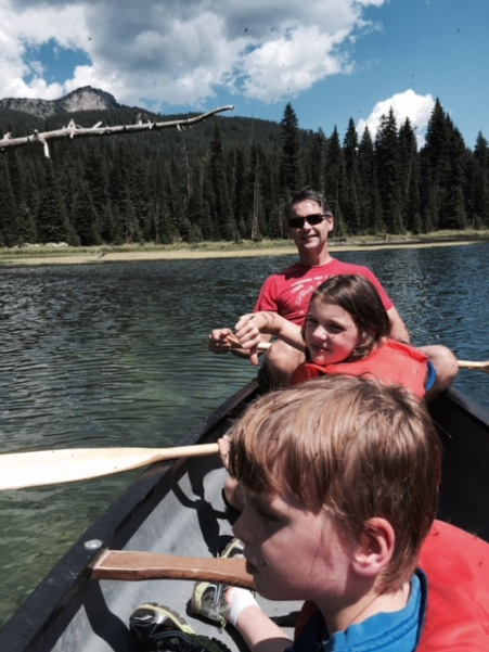 The mayflies were swarming us in the canoe. Good thing they don't bite!