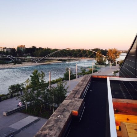 Lovely view down the Bow River from the Charbar patio.