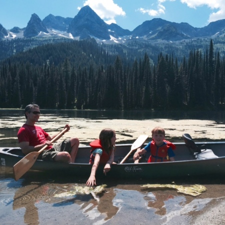 Canoeing at Island LAke is a great way to spend an afternoon.
