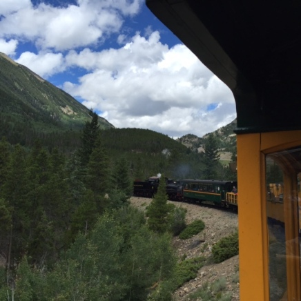 All aboard the Georgetown Loop, a narrow gauge railway that runs to Silver Plume.