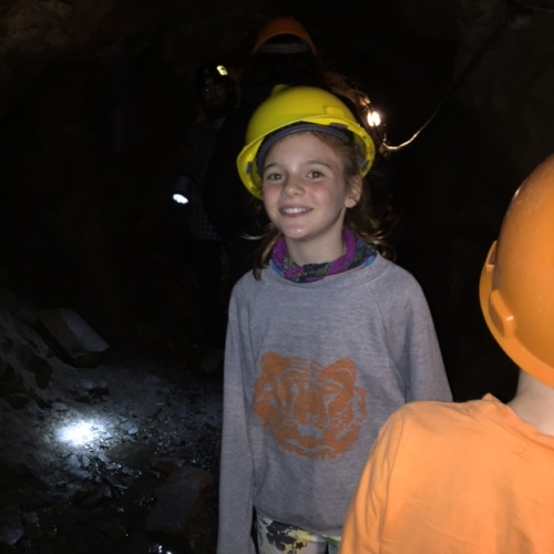 Avery and Bennett explore the Lebanon Mine near Georgetown, Colo.