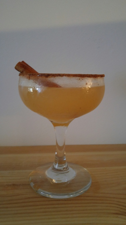 Apple butter is a lovely addition to this twist on a margarita.