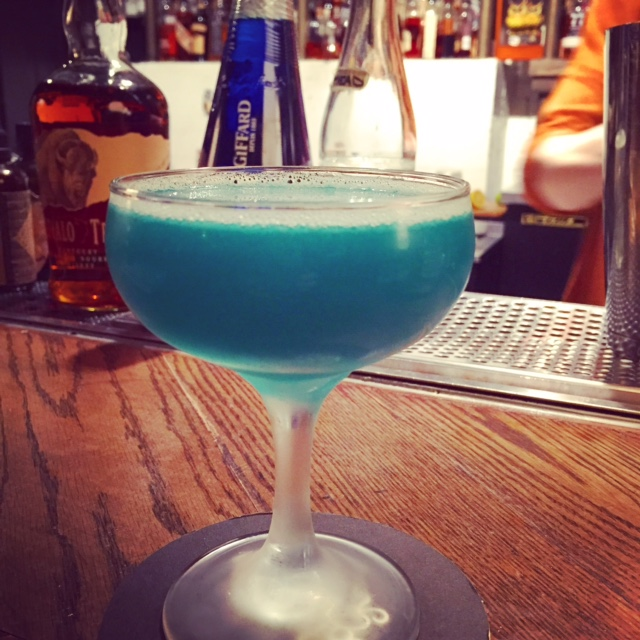 National bourbon room drink play love for Blue lagoon cocktail