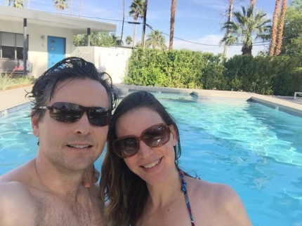 Every afternoon we hit the pool at The Junipero Palm Springs. With beer.