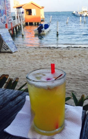 The panty ripper cocktail is a favourite at the Thrsday night Chicken Drop in San Pedro on Ambergris Caye, Belize.