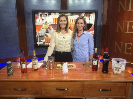 Mixing savoury summer cocktails with Aisling Tomei. Her favourite was the Amber Road. Mine? The Smoky Hot Pepper Negroni!