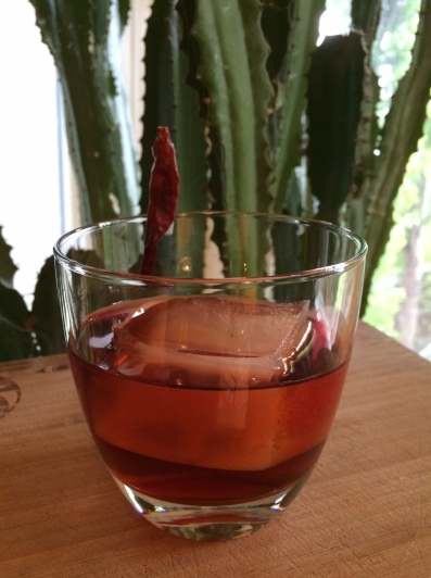 This twist on a Negroni uses smoky mezcal, which stands up beautifully to the bitter Campari.