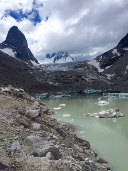 We hiked right up to the glacier-fed lagoon beneath Vowell Glacier.