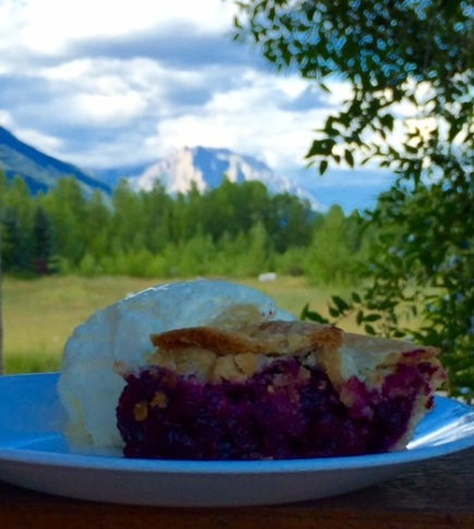 Saskatoon berry pie is a summertime treat, and a great taste of Canada!