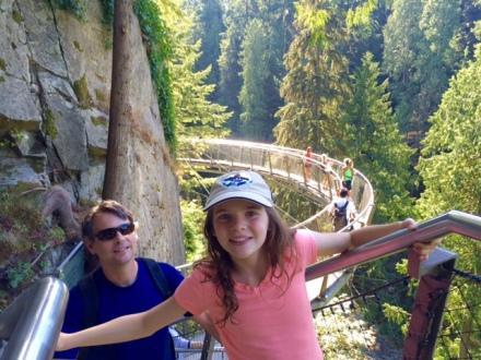 The Cliffwalk at Capilano Bridge Suspension Park.
