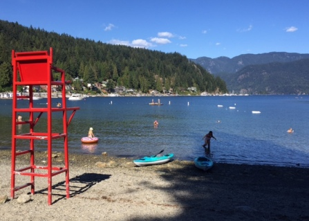 Picturesque Deep Cove beach is the nice place to spend a summer afternoon.