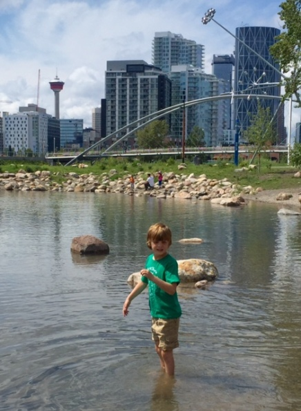 St. Patrick's Island is a lovely redeveloped urban park between the Calgary Zoo and East Village.