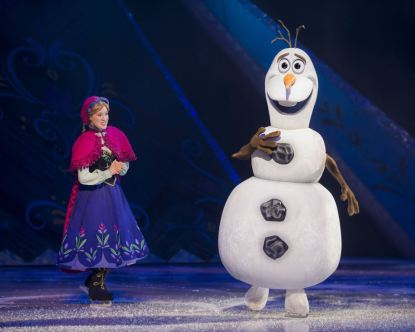 The Frozen Gang stole the show, in our opinion. Image courtesy Disney On Ice.