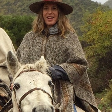 Channeling my inner Dr. Quinn Medicine Woman on horseback in the Andes.