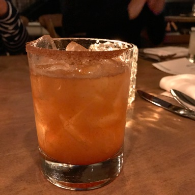 Smoky mezcal, lime juice and cinnamon syrup turn into a liquid churro at Model Milk.